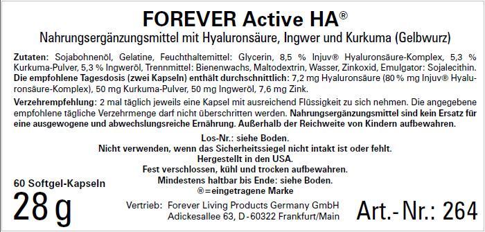 Active HA Hyaluronsäure