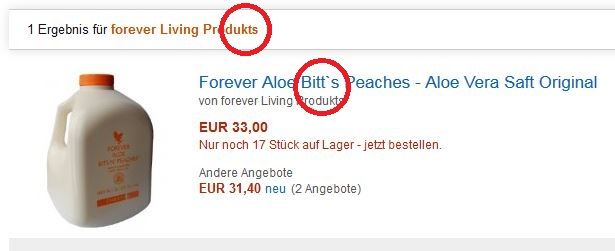 Fake Produkte bei Amazon