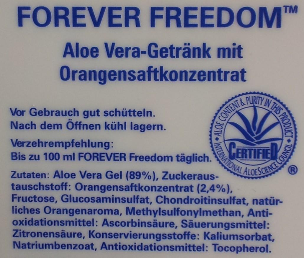 Forever Freedom 196 Chondroitin Glucosamin